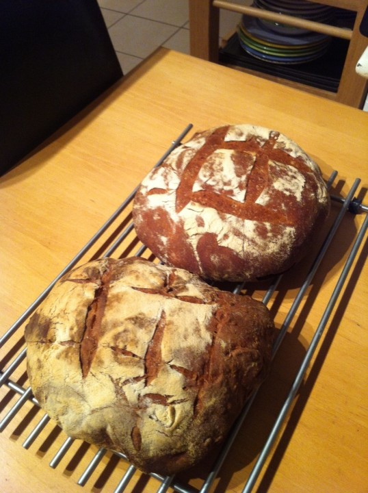 The finished loaves