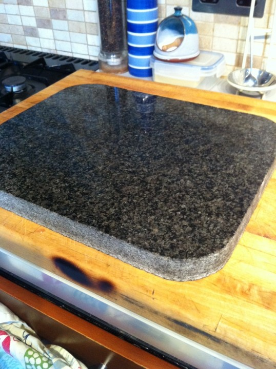 Larvikite baking stone