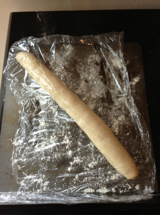 Pain d'epi - rolled into a sausage