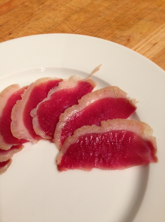 Duck prosciutto slices