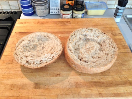 Hollowing out the loaf