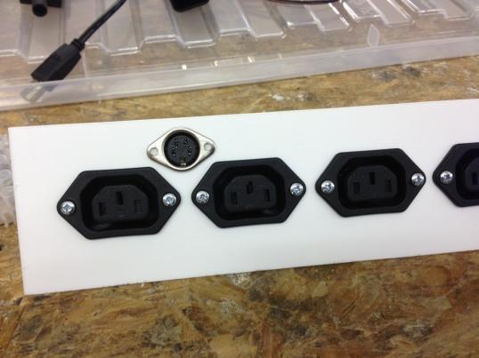 Rear sensor DIN plug